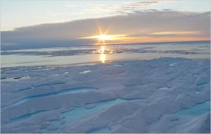 sunset arctic