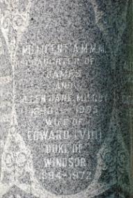 Milroy tombstone