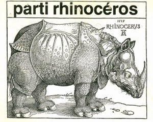 Now that the election has been called, I am looking forward to hearing from the Rhinos. past slogan,