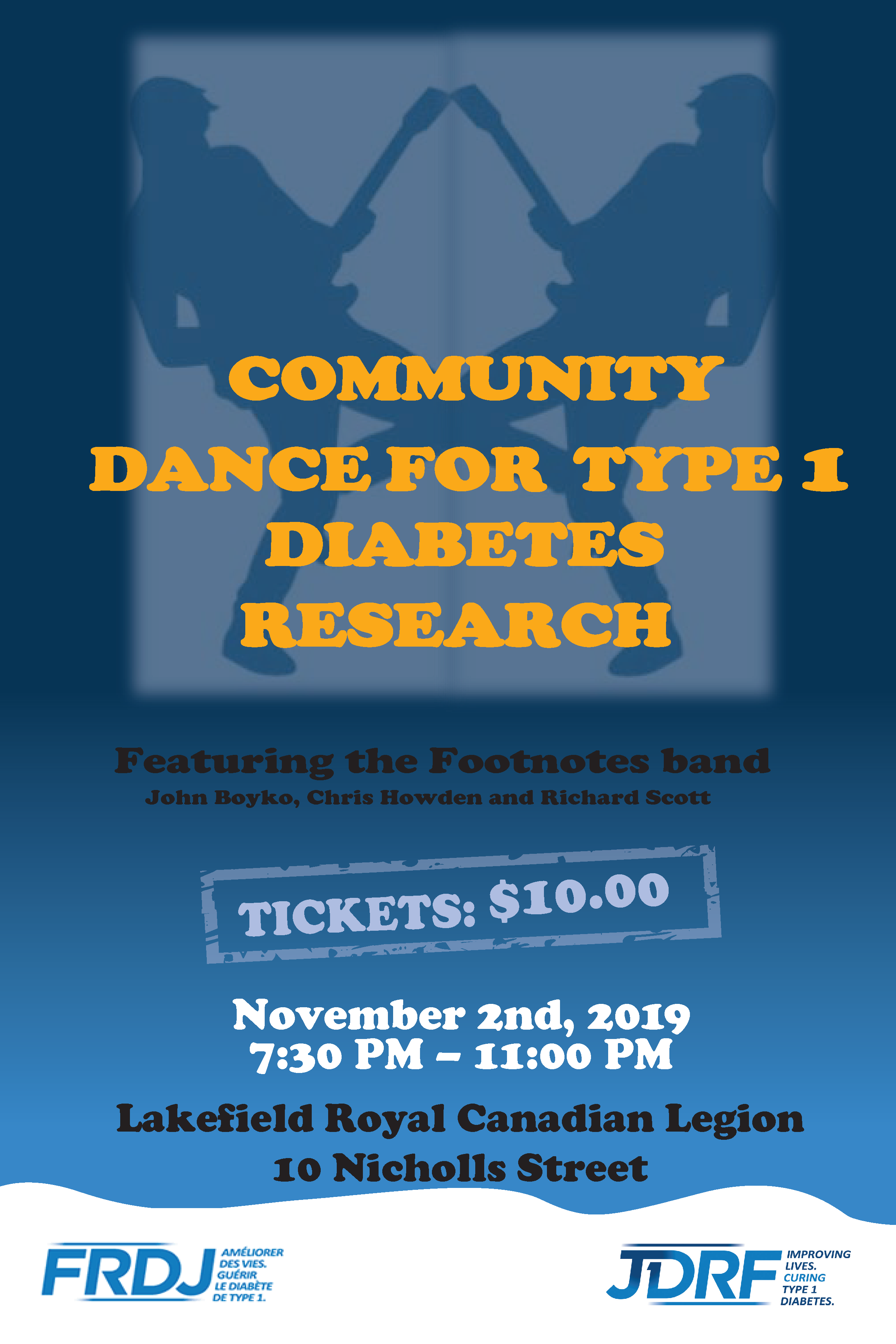 Community Dance for Type 1 Diabetes Research - November 2, 2019 copy